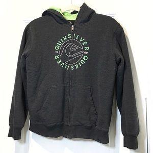Quicksilver Hooded zip up sweater 10/12